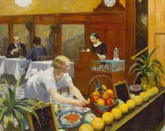 Tables for Ladies    Artist: Edward Hopper (American, Nyack, New York 1882–1967 New York)  Date: 1930  Medium: Oil on canvas  Dimensions: 48 1/4 x 60 1/4 in. (122.6 x 153 cm)