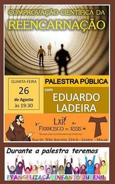 Lar Francisco de Assis Convida para a sua Palestra Pública – Macaé – RJ - http://www.agendaespiritabrasil.com.br/2015/08/26/lar-francisco-de-assis-convida-para-a-sua-palestra-publica-macae-rj-21/