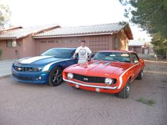 My mate Shawn with his Classic 69 and a New 12