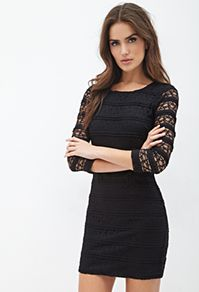 Dresses - Forever 21 UK - Striped Lace Dress