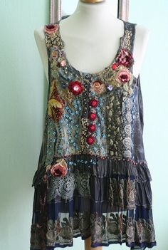 Bohemian romantic tunic by FleurBonheur