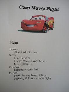 Disney Movie Nights - Cars