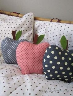 Подушка – яблоко, выкройки подушек