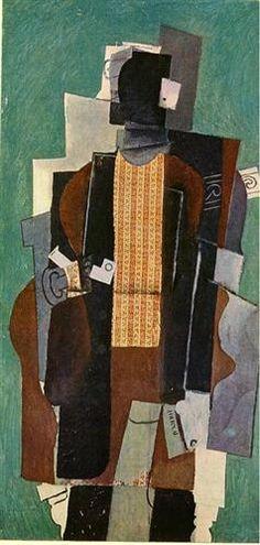 Man with pipe - Pablo Picasso ▓█▓▒░▒▓█▓▒░▒▓█▓▒░▒▓█▓ Gᴀʙʏ﹣Fᴇ́ᴇʀɪᴇ ﹕☞ http://www.alittlemarket.com/boutique/gaby_feerie-132444.html ══════════════════════ Bɪᴊᴏᴜx ᴀ̀ ᴛʜᴇ̀ᴍᴇs ☞ https://fr.pinterest.com/JeanfbJf/P00-les-bijoux-en-tableau/ ▓█▓▒░▒▓█▓▒░▒▓█▓▒░▒▓█▓