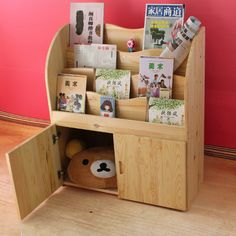 children bookshelf / kids furniture bookrack/ montessori furniture/ classroom put away rack