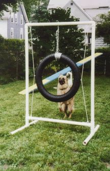 Build your own agility equipment the tire jump reality bites dog how to design a backyard playground for dogs Dog Enrichment, Dog Playground, Dog Rooms, Aggressive Dog, Dog Training Tips, Dog Agility Training, Training Videos, Homemade Dog, Beagle