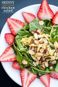 A sweet, spicy and many chicken salad that has Greek Yogurt instead of mayo, and is crazy low-cal.