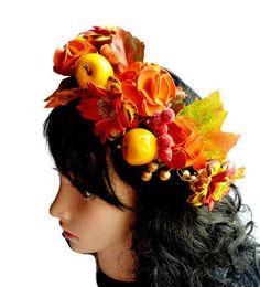 Autumn Photo props Wedding crown Fall hair accessory Woodland Boho Bohemian hair…