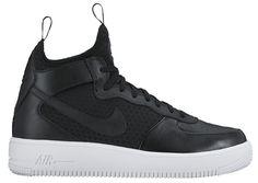 size 40 c8e7f da8d2 Women s Nike Air Force 1 UltraForce Mid Light Air MID Black White Black