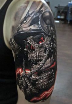 soldier skull tattoo