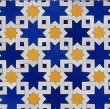 blue and yellow moroccan tile | yellows and blue image courtesy www universalcity california olx com