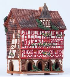 Ceramic handmade incense house miniature by Midene. Mollenhauerhaus in Fulda, Germany. R349