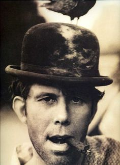 Tom Waits. I love bowler hats and this man, so why not both?