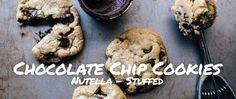 RECEPT: Chocolate chip koekjes, gevuld met Nutella