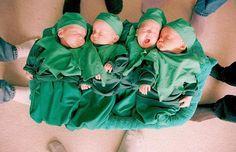 Ed and Heather Lavich's quadruplets  in Winnipeg