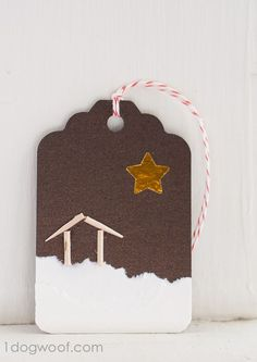 Homemade Christmas Gift Tags Day 9: O Holy Night