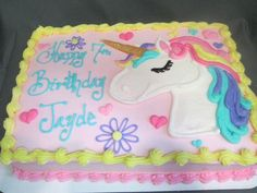 Best representation descriptions: Drawing Unicorn Cake Related searches: Tinkerbell Cake,Unicorn Rainbow Sheet Cake,Unicorn Sheet Cake with. Unicorne Cake, Cupcake Cakes, Birthday Sheet Cakes, Unicorn Birthday Parties, 5th Birthday, Birthday Ideas, Savoury Cake, Party Cakes, First Birthdays