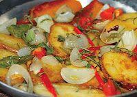 Frigideira de Batata e Abóbora com Ervas Aromáticas (vegana)