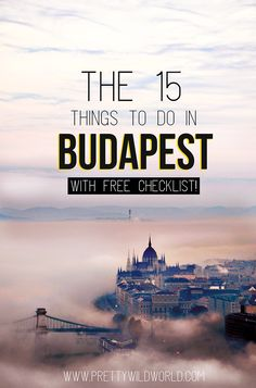 Top Touristenattraktionen und Highlights in Budapest (Ungarn) , Top Tourist Attractions and Best Things to do in Pest-Buda (Hungary) 15 rzeczy do zrobienia w Budapeszcie Europe Destinations, Europe Travel Tips, European Travel, Hungary Travel, Hungary Food, Budapest Travel Guide, Budapest Things To Do In, Budapest What To Do, Les Continents