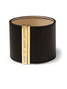Letter Press Leather Cuff / Marc by Marc Jacobs