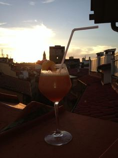 Cocktail with view from Terrace Wine Bar on 6° floor at Hotel Pitti Palace al Ponte Vecchio