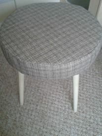 Vintage stool recovered