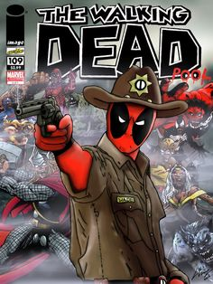 My two loves are coming this month, Deadpool and The Walking Dead, so what better way to celebrate than draw a fictitious The Walking Deadpool picture. The Walking Deadpool by Francis Gray 2016 Art Deadpool, Deadpool Photos, Deadpool Stuff, Deadpool Cosplay, X Men, Hulk, Thor, Captain America, Spiderman