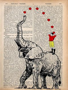 Circus | Carnival | Masquerade | Cabaret Photography at: http://www.pinterest.com/oddsouldesigns/the-secret-circus/ #elephant #illustration