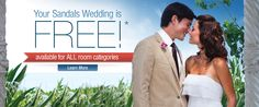 Stay 6 nights or longer and your destination wedding is free.  Contact me for details!