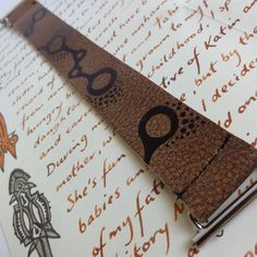 Eco Friendly Leather Molecule Bracelet by designlab443 on Etsy. Very excited about this one, it came out just as I pictured in my mind!