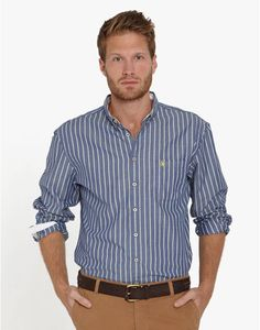 NAUGHTON Mens Striped Shirt  this guys got the look