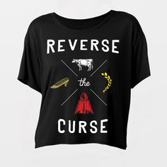 Image of Girl's Reverse the Curse Flowy Tee