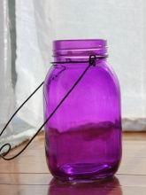 PURPLE MASON JARS Hanging Jars Lanterns