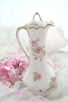 5/18/16 ~ Dear Val, I found this pretty porcelain vase with pretty pink roses.  I hope you enjoy it and are having a great week! ~ Julianna