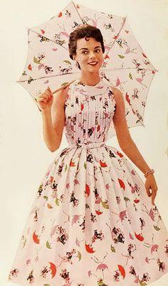 1956. Matching umbrella!