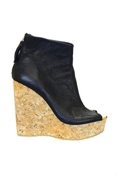 b7abbd490d2 Jimmy Choo Paw Cork-Wedge Leather Bootie