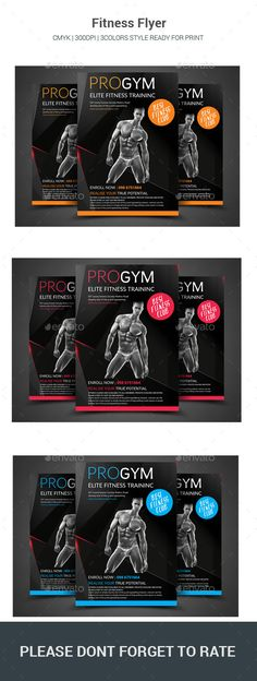 Fitness Flyer Template Creative flyers, Print and Creative - fitness flyer template