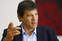 Fernando Haddad, em entrevista realizada em seu gabinete