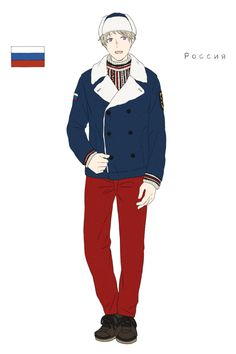 Ivan in the Russian athletes' uniform from the Opening Ceremonies of the 2014 Sochi Winter Olympic Games - Art by toxicell.tumblr.com