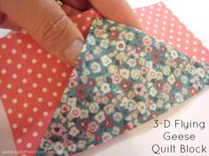 3-D Flying Geese Quilt Block Tutorial