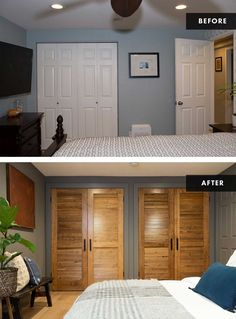 Guest Bedroom Decor, Master Bedroom, House Seasons, Minimal Bedroom, White Subway Tiles, Bedroom Paint Colors, Wet Rooms, Bed Throws, Home Renovation