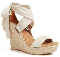 'Jules' Platform Wedge Sandal (Women) - I like the way these are