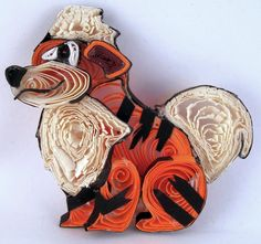 Paper Quilling Growlithe - 058 by wholedwarf on deviantART