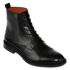 """<p>Add polished panache to your professional looks with our hand-finished leather boots by Stafford.</p><div style=""""page-break-after: always"""