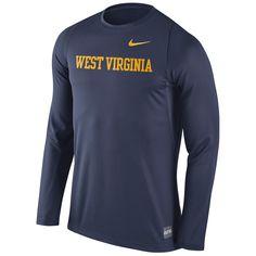 West Virginia Mountaineers Nike 2016 Elite Basketball Shooter Long Sleeve Dri-FIT Top - Navy - $59.99