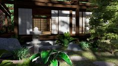 Japanese Zen Landscape Design. 3D Architecture Rendering Animated Walkthrough for designers and homeowners, for new buildings and remodel projects. At The DPS Design we design AND make realistic architectural imagery for Gardens, Decks, and Terraces. #renderingarchitecture #architecturerendering #3Drendering #architecturedesign #landscapedesign #gardendesign #zengarden