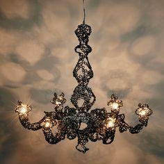 Engineering Temporality chandelier by Studio Markunpoika