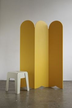 Is it Pacman or is it a room divider?  Something to brighten up your day and your room!    #yellow    Picket Room Divider from DesignByThem