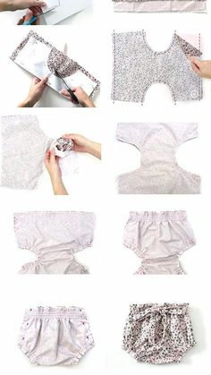 Baby Bloomers Pattern, Baby Dress Patterns, Baby Clothes Patterns, Diaper Cover Pattern, Baby Girl Fashion, Kids Fashion, Baby Dress Tutorials, Baby Dress Design, Baby Sewing Projects