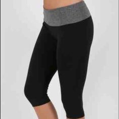 Yoga Capri Pants These active wear capri leggings are clean basic yoga leggings. The best quality you can find for this price.  88% Polyester / 12% Spandex Pants Capris